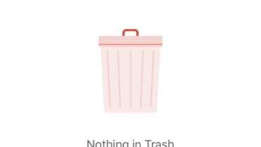 Nothing in Trash