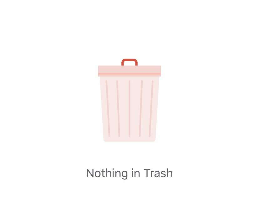 Nothing in Trash